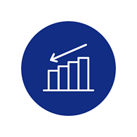 decrease icon (blue)
