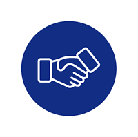 handshake icon (blue)