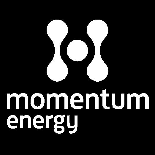 Momentum energy logo-white